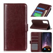 Taltech Crazy Horse Wallet Cover for Samsung Galaxy S21 Plus - Brown