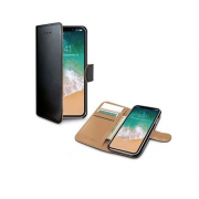 Celly Celly Wally Cover for iPhone XR - Black & beige
