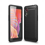 Taltech Brushed Carbon Fiber Case for Samsung Galaxy Xcover 5 - Black