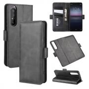 Taltech Classic Wallet Cover for Sony Xperia 1 II - Black