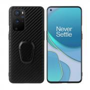 Taltech Kickstand Case with Ringholder for OnePlus 9 Pro - Carbon Fiber Texture