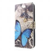 Taltech Wallet Cover for Huawei P30 - Blue Butterfly