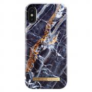 IDEAL FASHION CASE iPhone X - MIDNIGHT BLUE MARBLE