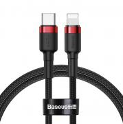 Baseus Baseus Cafule USB-C to Lightning Cable PD, 18W, 1m - Red/Black