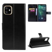 Taltech Crazy Horse Wallet Cover for iPhone 12 Mini - Black