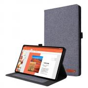 Taltech Cloth Texture Cover for Lenovo Tab M10 Plus - Grey
