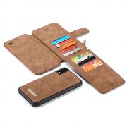 Taltech CASEME Cover with detachable magentic Case for iPhone XR - Brown