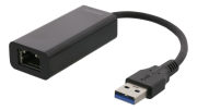 DELTACO Deltaco Adapter USB-A 3.0 to Network Adapter - Black