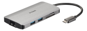 D-Link D-Link 8?in?1 USB?C Hub with HDMI/Ethernet/Card Reader/Power Delivery