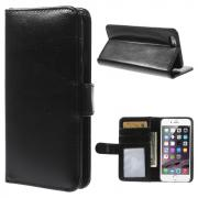 Taltech Crazy Horse Wallet Cover for iPhone 6/6s - Black