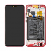 huawei Y9 2019 LCD + Frame - Coral Red
