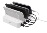 DELTACO Deltaco USB Charging Station, 4xUSB-A, 1,5 m Cable - White