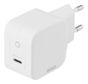 DELTACO USB-C PD, GaN, 30W wall charger by Deltaco- White