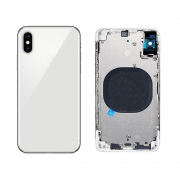 OEM IPhone XS Complete Back Cover Glass with Frame - Silver