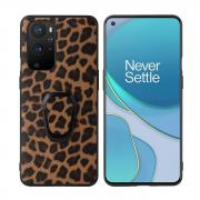 Taltech Kickstand Case with Ringholder for OnePlus 9 Pro - Leopard Texture