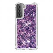 Taltech Samsung Galaxy S21 Dynamic Quicksand Case - Purple