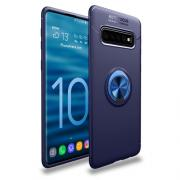 Magnetic Case with Ring for Samsung Galaxy S10 - Blue
