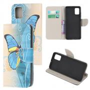 Taltech Wallet Cover for Samsung Galaxy A02s - Blue Butterfly