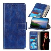 Taltech Crazy Horse Wallet Case for iPhone 13 - Blue