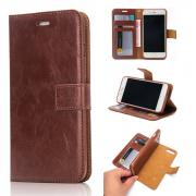 Crazy Horse PU-Leather Cover 2 in 1 iPhone 8 Plus / 7 Plus - Brown