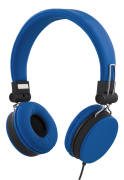 STREETZ STREETZ Headset with Microphone, 3.5mm - Blue