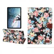 Flowery Cover for Samsung Galaxy Tab S4 10.5 - Black