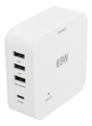 DELTACO Deltaco 65W Charger, USB-C PD, Fast Charging, MacBook Air, iPhone , White