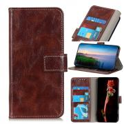 Taltech Crazy Horse Wallet Case for iPhone 13 - Brown