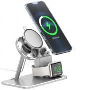 Taltech AJZJ07A 3-in-1 Charge Station för iPhone 13 & 12 Series, Apple Watch, AirPods