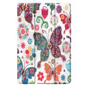 "Taltech Tri-fold Cover for Samsung Galaxy Tab S5e 10.5"" - Flowers & Butterflies"