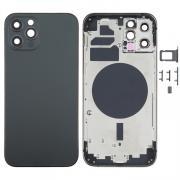 NONAME iPhone 12 Pro Complete Back Cover Glass with Frame - Black