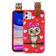 Taltech Shockproof Cartoon Case for iPhone 11 - Red Owl