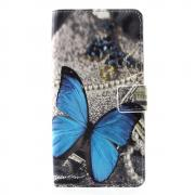 Taltech Wallet Cover for Huawei P30 Pro - Blue Butterfly