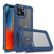 Taltech Carbon Fiber Case for iPhone 12 /12 Pro - Blue/Transparent