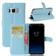 Taltech Wallet Cover for Samsung Galaxy S8 Plus - baby-Blue