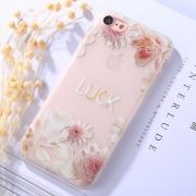 "Taltech Case for iPhone 7/8 ""Make your own luck"" - Flowers"