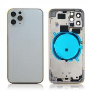 iPhone 11 Pro Back Housing without logo High Quality Silver