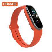 Taltech Silicone Smart Watch Band for Xiaomi Mi Band 5 - Orange
