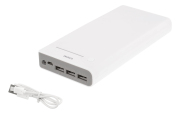 DELTACO Deltaco Powerbank with Flashlight 20000mAh - White