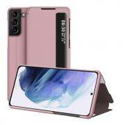 Taltech Samsung Galaxy S21 Plus View Window Flip Cover - Rosegold