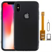 Taltech Case with SIM-cardadapter for iPhone X - Black