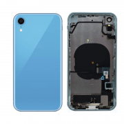 iPhone XR Complete Back Cover Glass with Frame - Blue