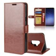 Crazy Horse PU-Leather Cover for Samsung Galaxy S9 Plus - Brown