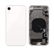 iPhone XR Complete Back Cover Glass with Frame - White