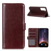 Taltech Crazy Horse Wallet Cover for Samsung Galaxy S21 - Brown