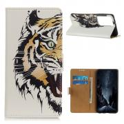 Taltech Wallet Cover for Samsung Galaxy S21 Ultra - Tiger
