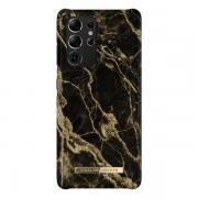 iDeal of Sweden iDeal Fashion Case for Samsung Galaxy S21 Ultra - Golden Smoke Marble