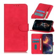 Taltech KHAZNEH Retro Wallet Cover for iPhone 12 Pro Max - Red