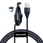 Baseus Baseus Mobile Game Cable with Suction, USB to Lightning, 2.4A, 1,2m - Black