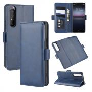 Taltech Classic Wallet Cover for Sony Xperia 1 II - Blue